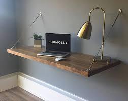 floating table floating desk wall mounted desk walnut