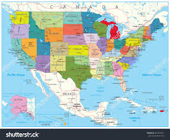Road Maps Usa by Usa Political Road Map Roads Water Stock Vector 561547321
