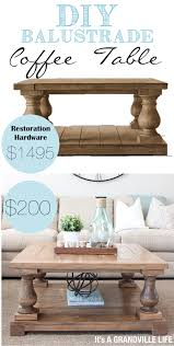diy square coffee table it s a grandville life diy balustrade coffee table