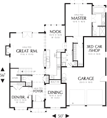craftsman style house plan bungalow design main level floor plan