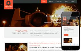 welding a industrial portfolio flat bootstrap responsive web