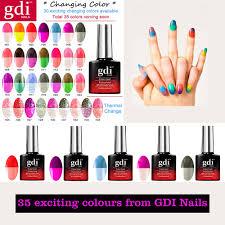 gdi nails uk colour changing range uv led soak off gel nail polish