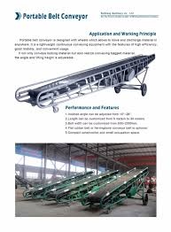 customize hopper portable truck loading belt conveyor for grain
