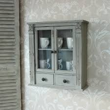 grey wooden wall cabinet shabby vintage style home chic home