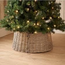 wicker tree skirts happy holidays