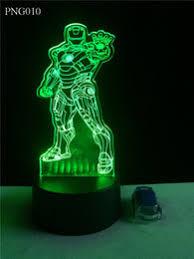 Iron Man Night Light Discount 3d Led Light Iron Man 2017 3d Led Light Iron Man On
