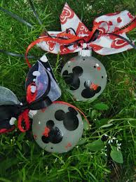 disney wedding favor ornaments four personalized minnie and