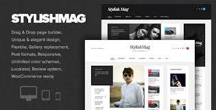 design magazine site stylishmag elegant news magazine theme by dannci themeforest