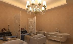 spa massage room with partitions interior design