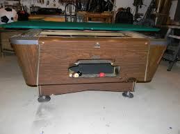 Valley Pool Table by Restoring A Vintage Valley Coin Table Azbilliards Com