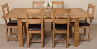 seattle dining set with 6 lincoln chairs oak furniture king