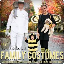 Baby Bee Halloween Costume Creative Diy Costume Ideas Mom Dad Baby Themed Family