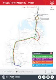 Link Light Rail Map Canberra Light Rail Options For Stage Two Route To Woden Revealed