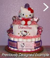 baby diaper cakes kitty diaper cake