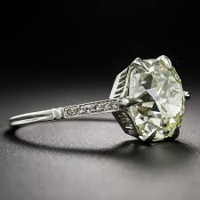 Vintage Style Cushion Cut Engagement Rings 3 14 Carat Antique Cushion Cut Diamond Solitaire
