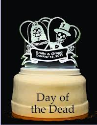 Wedding Cake Accessories Day Of The Dead Light Up Wedding Cake Topper Wedding Collectibles