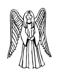 printable angel coloring pages for kids coloringstar