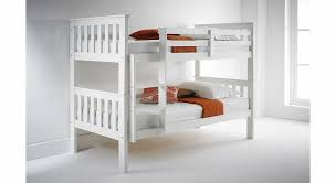 Solid Wood Bunk Beds Uk Happy Beds Atlantis White Finished Solid Pine Wooden Bunk Bed With