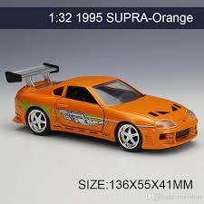 collectible model cars 2017 1 32 diecast model car 1995 supra orange vehicle play