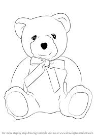 coloring teddy bears drawing draw bear step 0