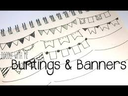 doodle with draw buntings and banners for your planner bullet journal