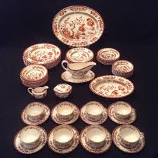 copeland spode india indian tree 62 dinnerware set for eight