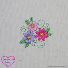 genniewren designs free three flowers machine embroidery design