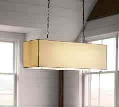 Linen Pendant Light Linen Rectangular Pendant Pottery Barn