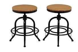 Counter Height Swivel Bar Stool Amazon Com Btexpert Solid Pair Industrial Counter Height Bar