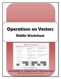 operations on vectors riddle worksheet worksheets students