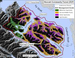 Hoonah Alaska Map by Community Sitka Conservation Society