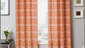 Orange White Curtains Orange Living Room Curtains Ecoexperienciaselsalvador