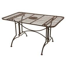 Outdoor Patio Dining Table Belham Living Stanton 42 X 72 In Oval Wrought Iron Patio Dining