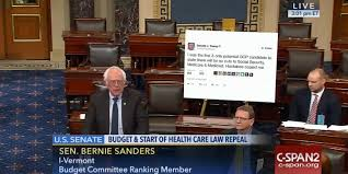Tweet Meme - bernie sanders brought a giant trump tweet to senate floor spurs
