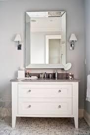 Framed Mirrors For Bathroom Vanities White Framed Bathroom Vanity Mirrors Home Design Plan