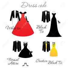 dress code for the celebrations options vector royalty free