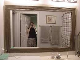 framed bathroom mirror ideas framed bathroom mirror kitchen pictures