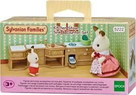 sylvanian families cuisine sylvanian families set d équipement de cuisine 5222