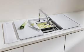 Enclosed Kitchen Sinks With Movable Cutting Boards And Retractable - Kitchen sinks blanco