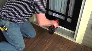 single garage screen door seasonguard retractable screen door installation youtube