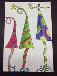 color it like you mean it 5th grade u0027s whimsical trees