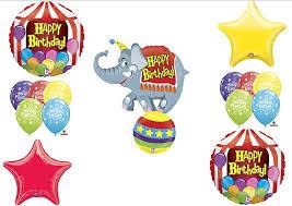 circus elephant big top birthday party balloons