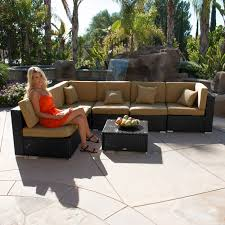 Outdoor Patio Furniture Sectional by 7pc Outdoor Patio Rattan Wicker Furniture Aluminum Sectional Sofa