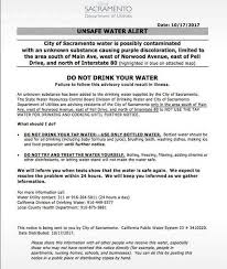 sacramento water advisory lifted following tests the sacramento bee