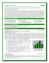 Resume For Marketing Job Resume For Sales And Marketing In Word Format Free Resume