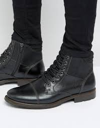 low top motorcycle shoes aldo choham leather laceup boots in black for men lyst