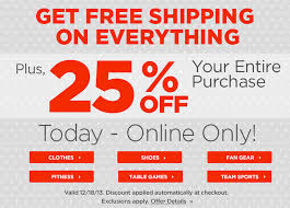 extra 25 off and free shipping sitewide at sports authority