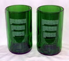 groovy green glass creates cool handmade glasses from discarded