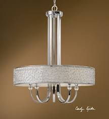 crystal l shade chandelier brandon 5 lt single shade chandelier by uttermost contemporary