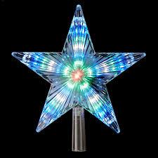 color changing led star tree topper with 31 lights item 106107